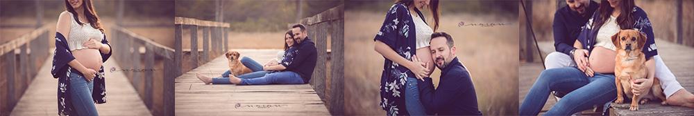 fotografia de embarazo en familia