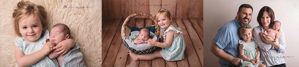 fotografia de recien nacido y familia